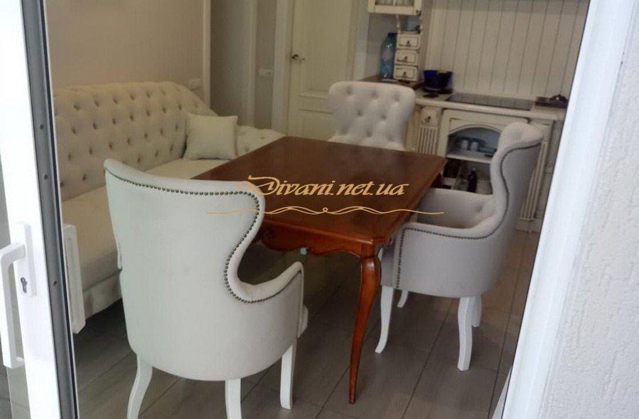 кухонная мягкая мебель на заказ в стиле Честер Одесса