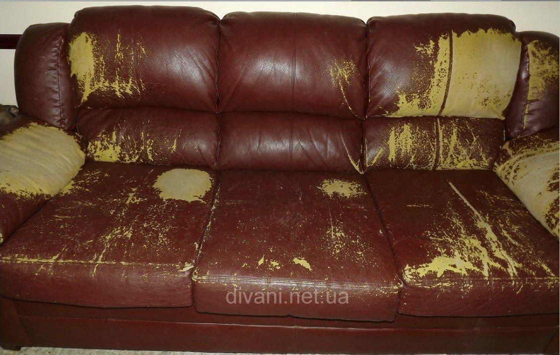 Экокожа на диване облезла что делать