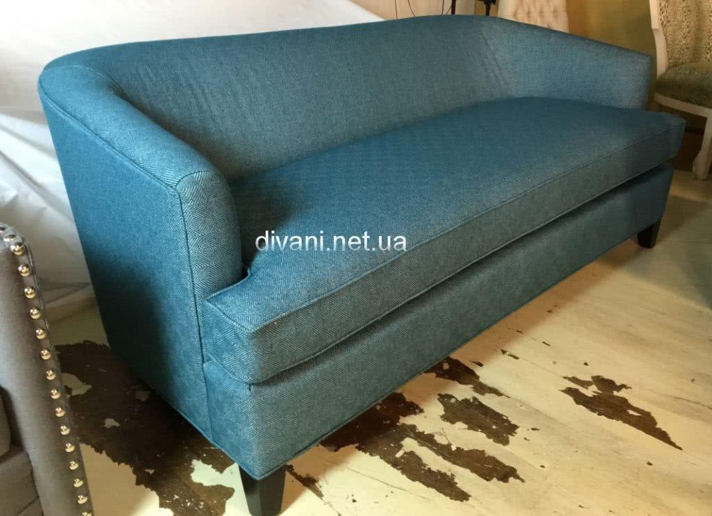 голубой прямой диван под заказ