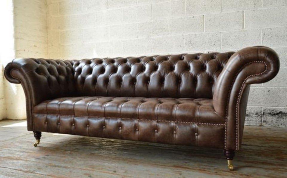 коричневый диван честер под заказ
