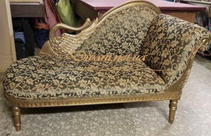 античный прямой диван