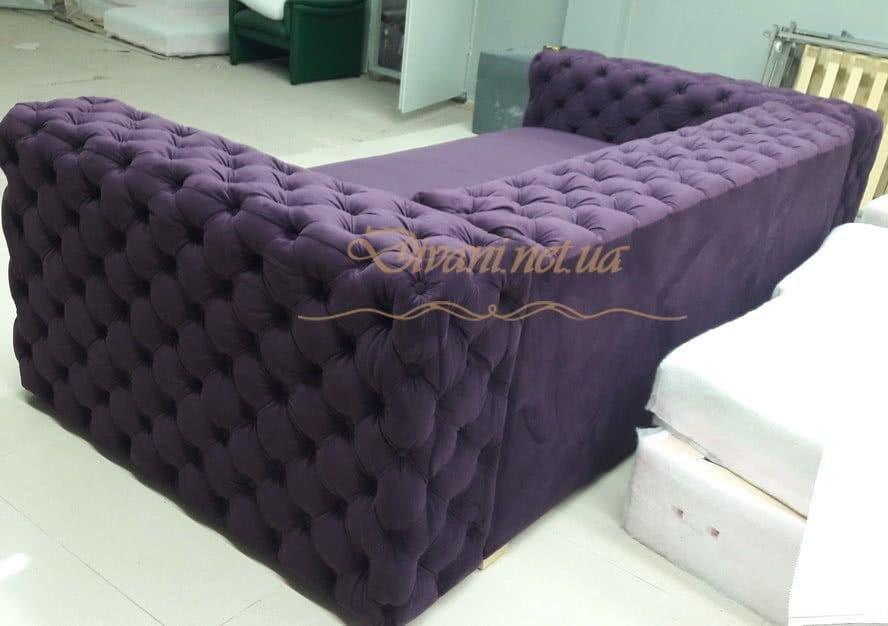 сиреневый диван честер