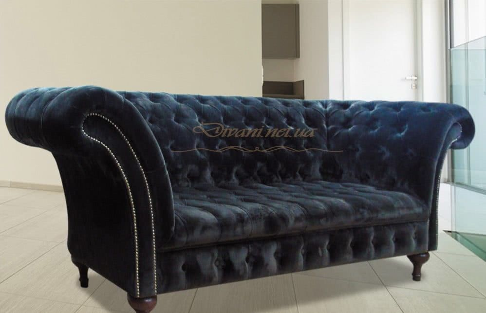 синий диван честер на заказ