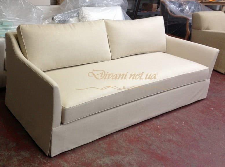 прямой белый диван
