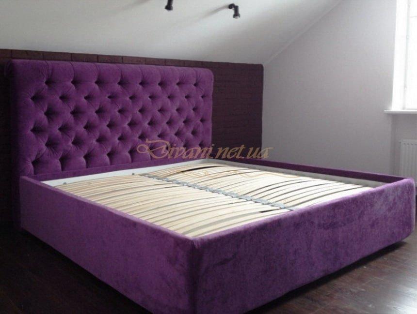 сиреневая кровать на заказ