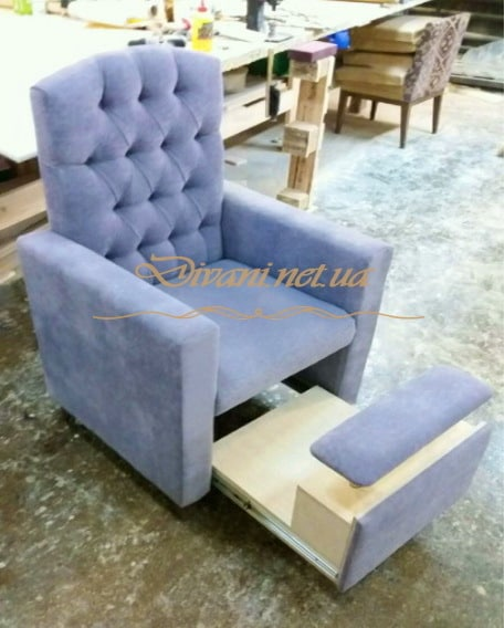 голубое кресло на заказ в Киеве