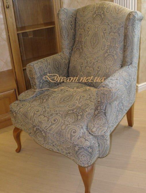 серое кресло на заказ в Киеве