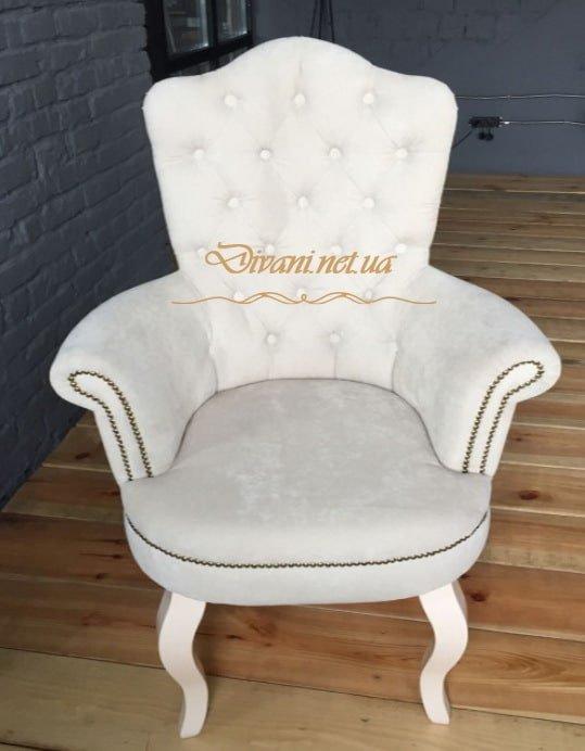 белое кресло честерфилд под заказ в Киеве