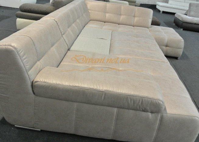 белый большой диван со спальным местом на заказ в К