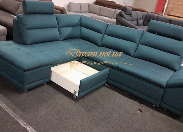 зеленый диван-кровать