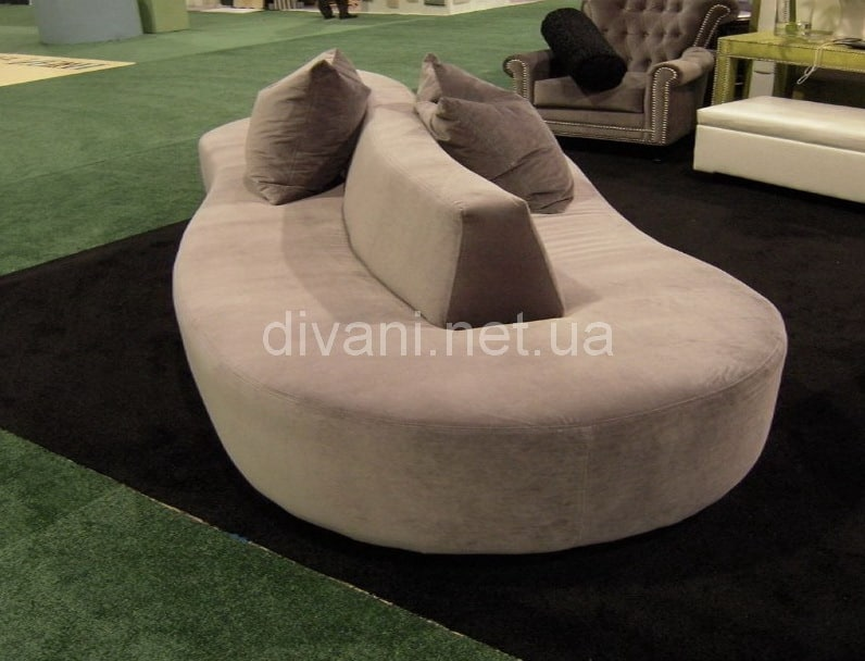 радиусный двухсторонний диван