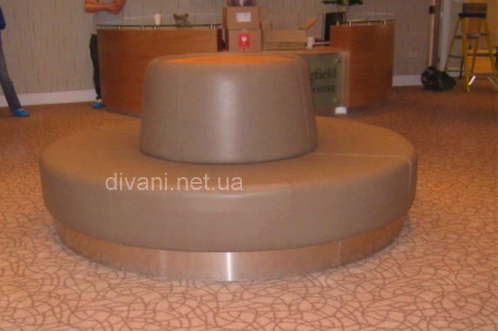 круглый диван для прихожей отеля