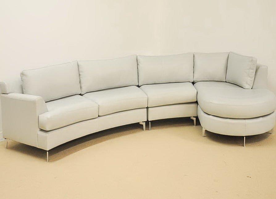 угловой диван с радианной секцией