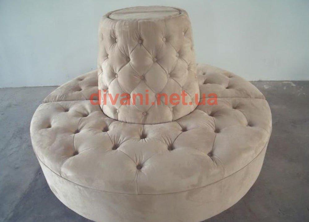 круглый диван из двух частей