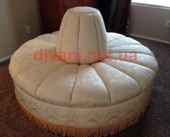 радиусная мягкая мебель на заказ в отель 2