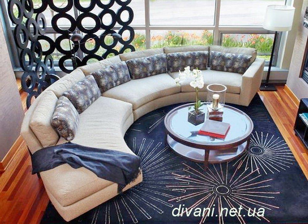 круглая мягкая мебель в элитный отель