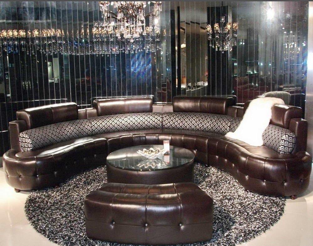 круглый диван в зал