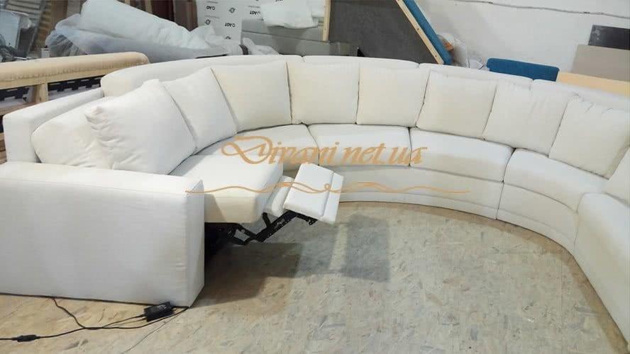 раскладной радиусный диван