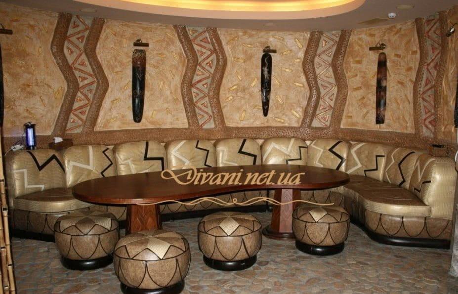 круглый диван в кафе на заказ