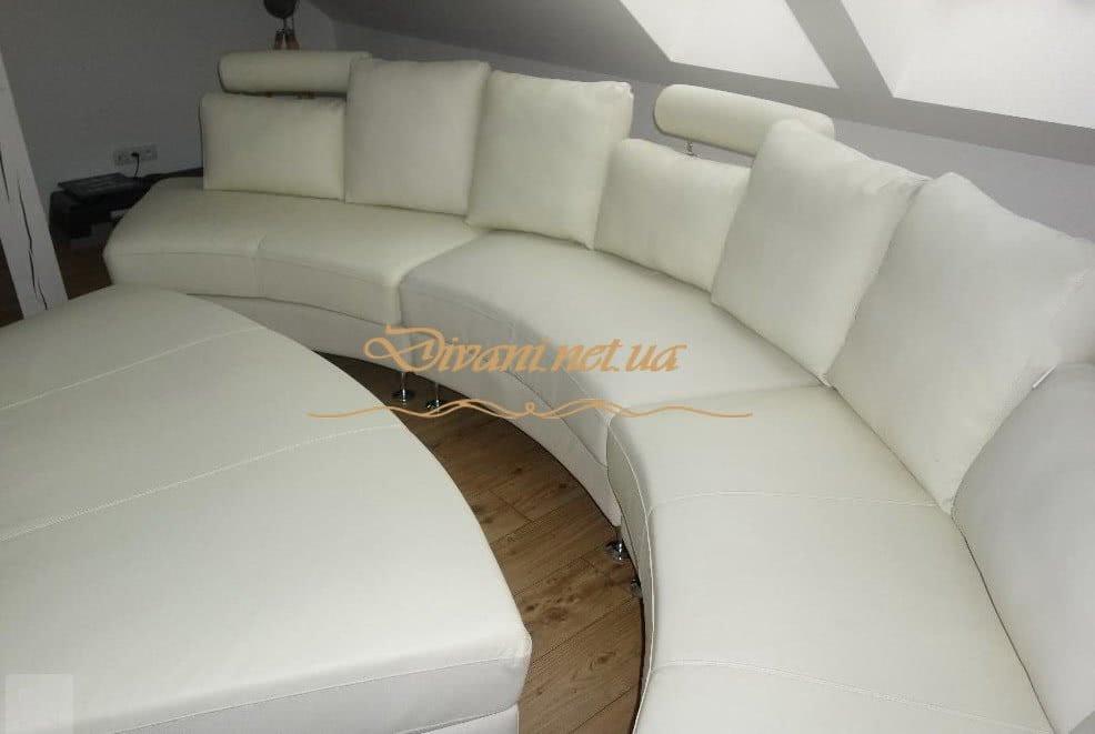 белый круглый диван