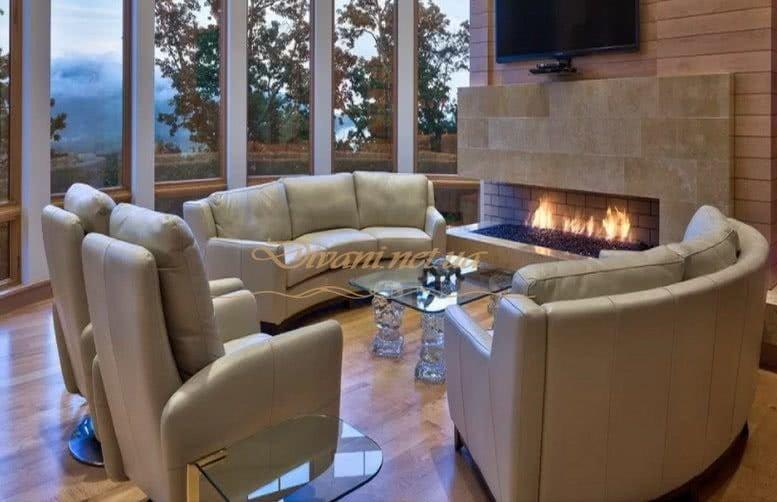 круглая мягкая мебель в элитный дом