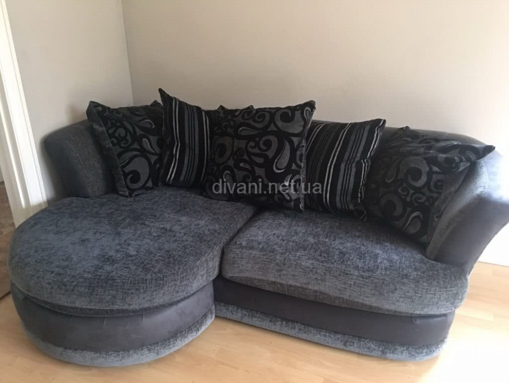 синий диван модульный