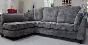 серый угловой большой диван на заказ