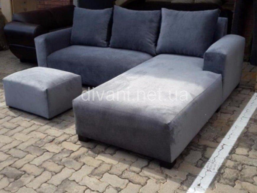 голубой диван большой