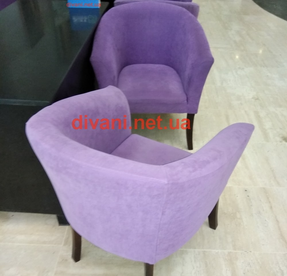 сиреневое кресло на заказ