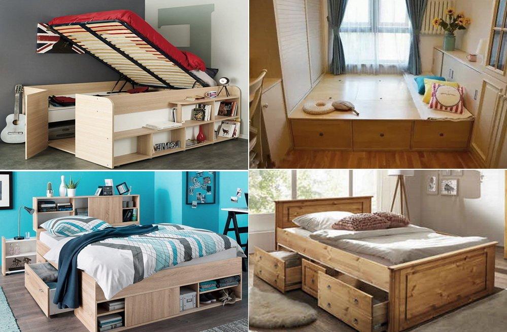 варианты кроватей подиумов на заказ