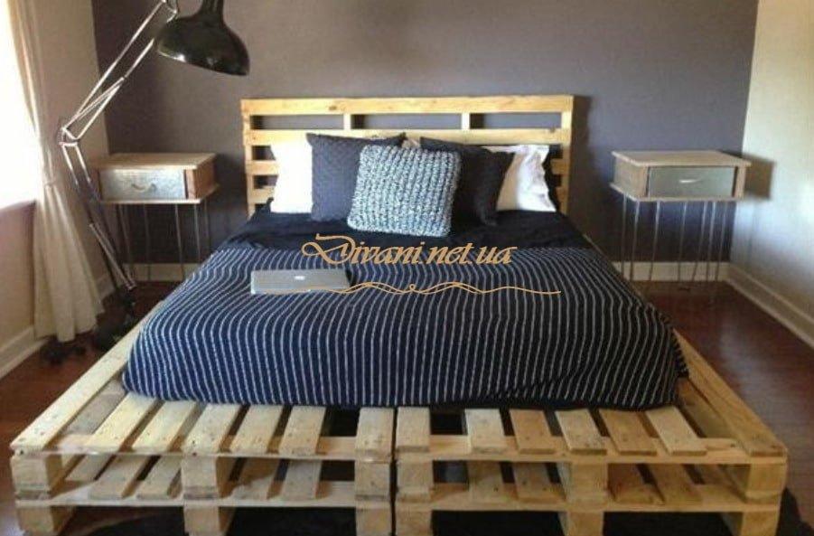кровать из поддонов в стиле лофт на заказ