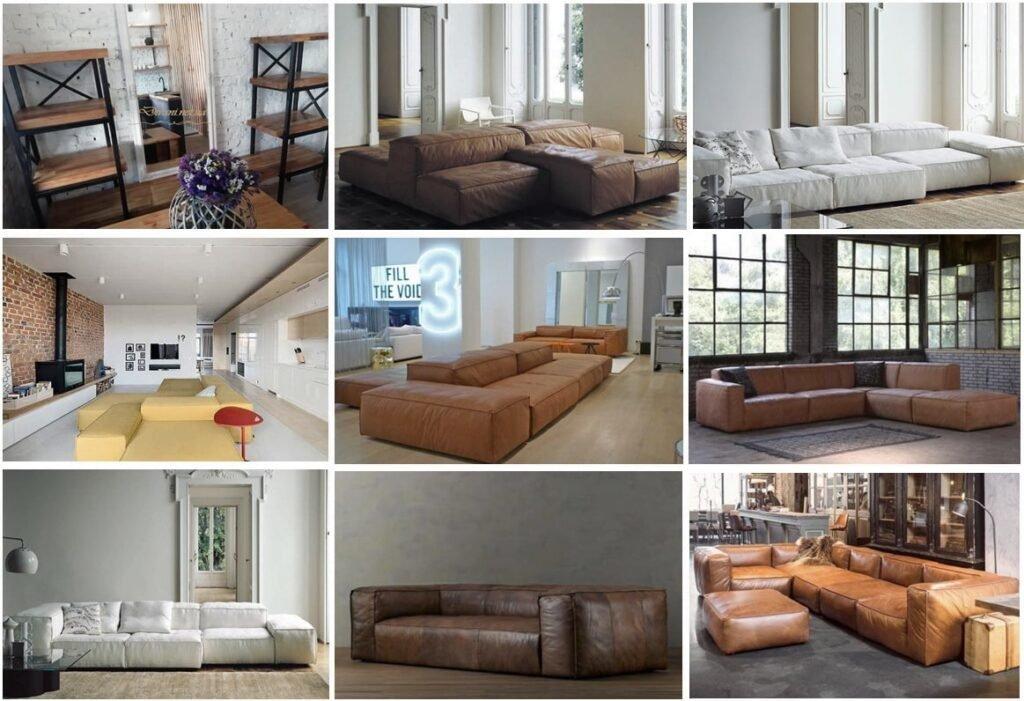 дизайн мягкой мебели в стиле лофт