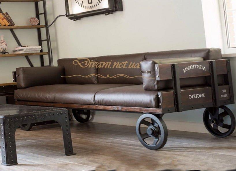 диван на колесиках лофт