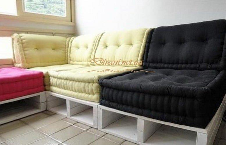 прямой диван в стиле loft
