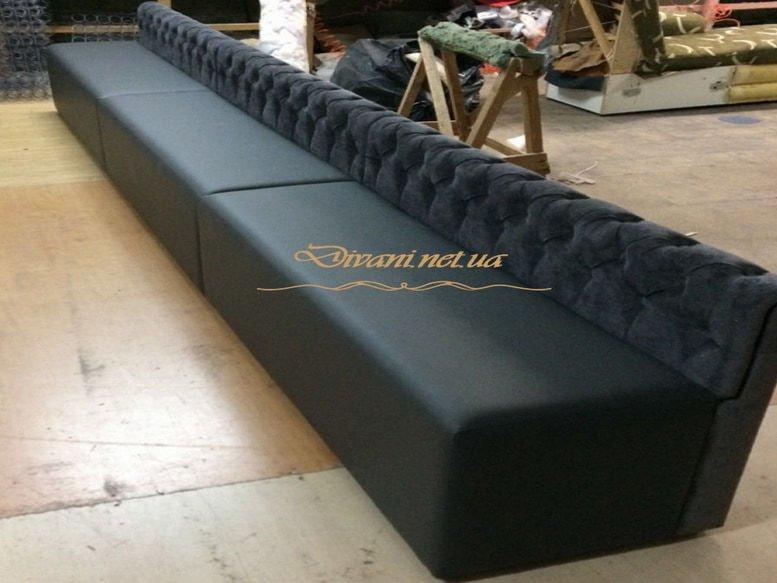 диван с низкой спинкой для кафе