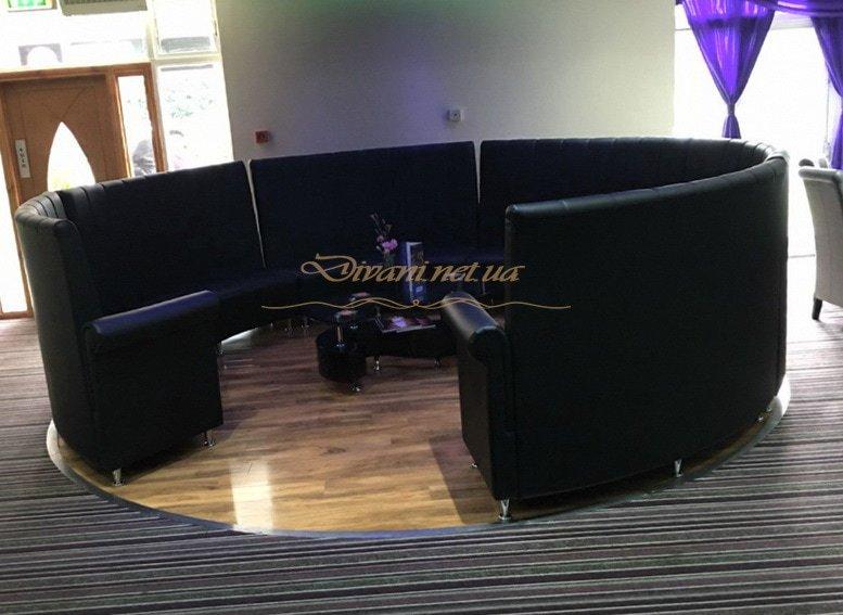 большой диван круглый в клуб