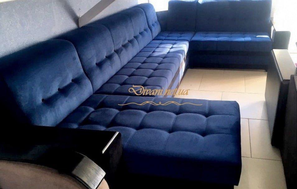 синий диван буквой п