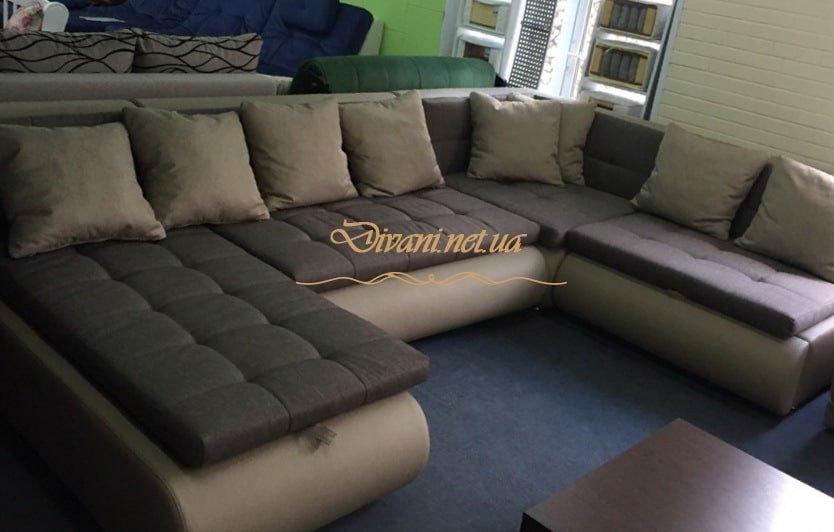 нестандартная п образная мягкая мебель