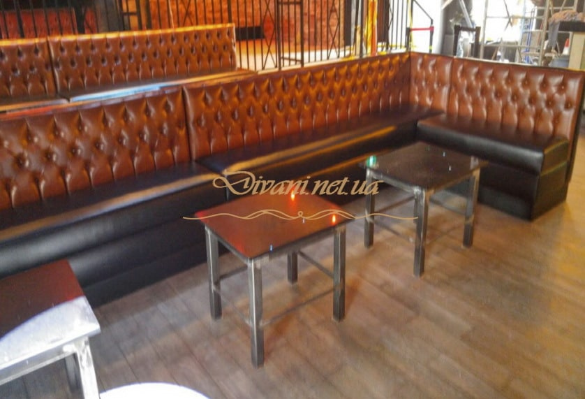 upholstered furniture in a restaurant