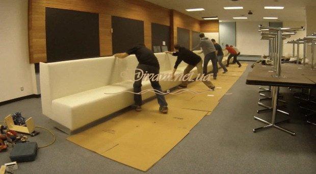 изготовление самого длинного дивана