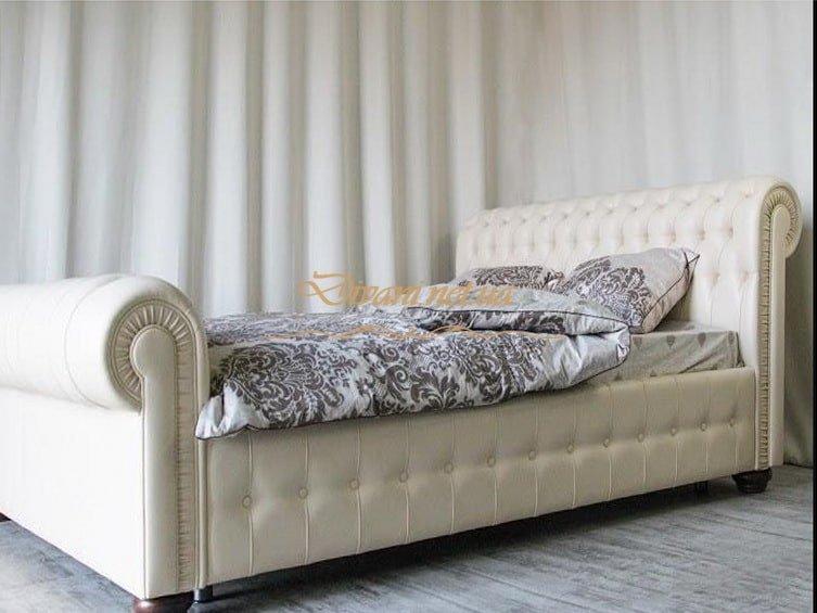 белая кровать честер