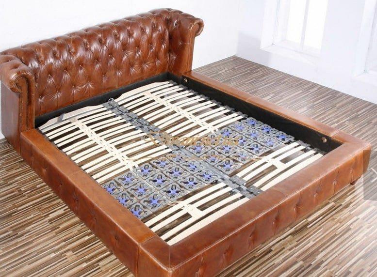 кровать честер на заказ коричневая