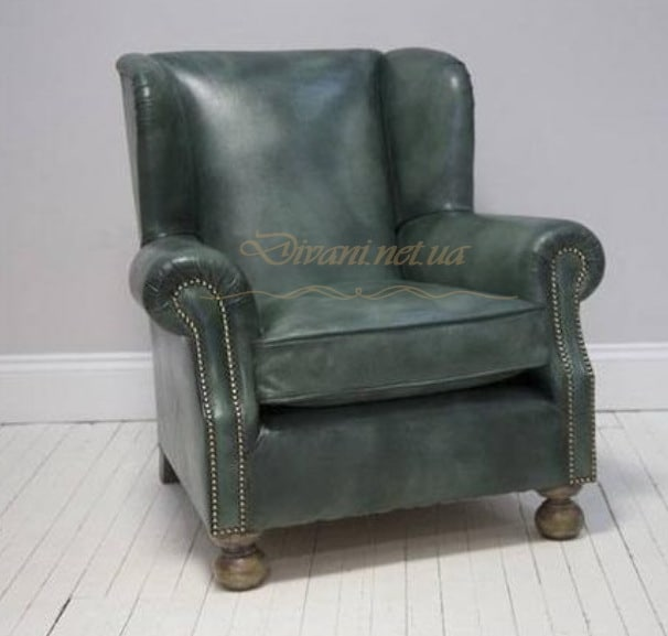 зеленое кресло честер
