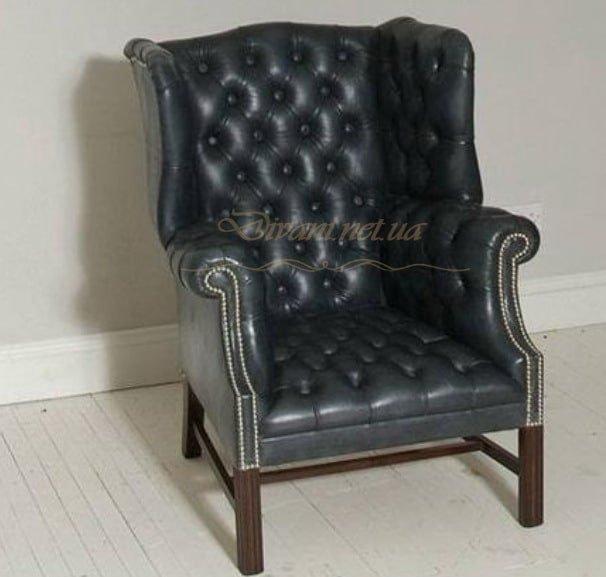 кресло честер кожаное