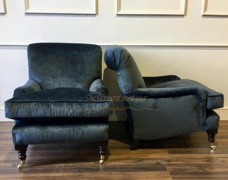 кресло честер синего цвета