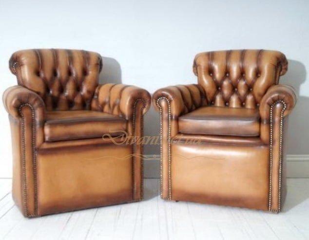 оранжевое кресло честер
