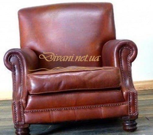 красное кресло честер из кожи