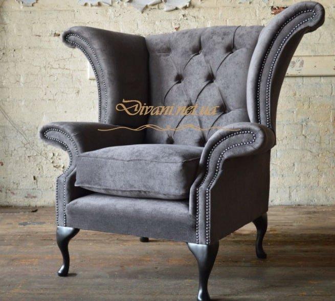 вельветовое кресло честер