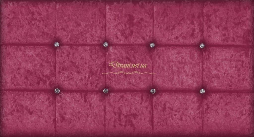 красное кровать с мягким изголовьем