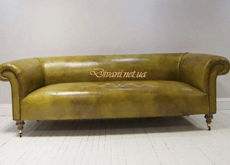 желтый диван в стиле честер